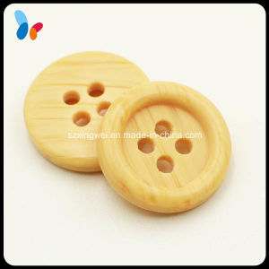 Fashion Imitation Wood Four Holes Button for Coat pictures & photos