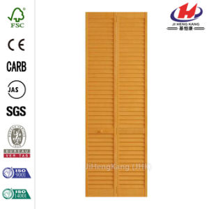 Louver Solid Wooden Closte Bi-Fold Door pictures & photos