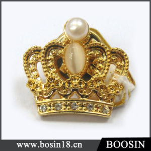 Metal Alloy Sparkly 18k Gold Plating Vintage Crown Brooch #5955 pictures & photos