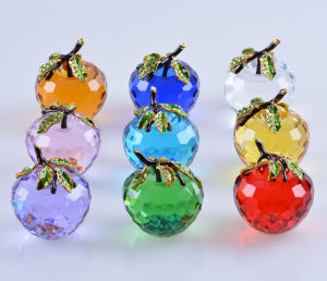 60mm Various Color in Stock Glass Crystal Apple Birthday Gift pictures & photos