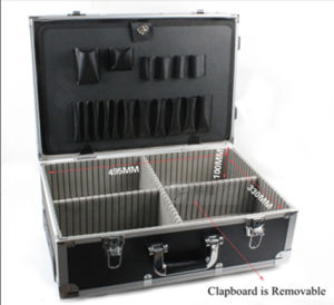 High Quality Aluminum Alloy Trolley Tool Case with Wheels pictures & photos