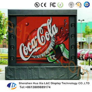 P10-8s Outdoor Full Color LED Display Screen Rental Iron Cabinet