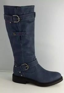 Women Fashion Knee High Heel Boot with Buckle (S 323) pictures & photos