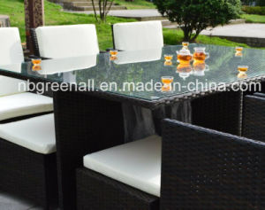 6 Persons Dining Cube Rattan Outdoor Furniture Set pictures & photos