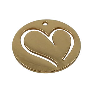 Round Metal Hang Tag Charms for Jewelry pictures & photos