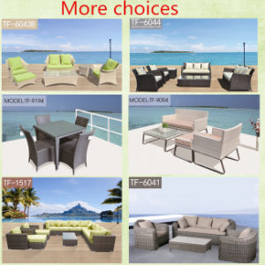 Unique Design Specific Use Wooden Grass Table and Rattan Chair Set pictures & photos