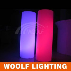 PE LED Decorative Light Pillar Color Change Used Wedding pictures & photos