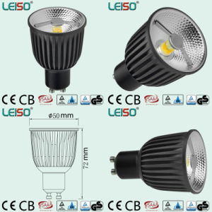 COB Reflector Design 2800k 85ra 90ra 6W 400lm GU10 LED pictures & photos