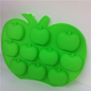 FDA Apple Shape Silicone Ice Mold with Ice Cube pictures & photos