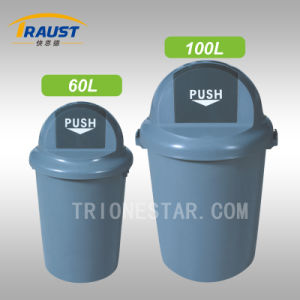 High Quality Outdoor Round Plastic Trash Bin pictures & photos