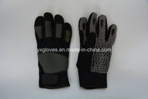 PVC Dotted Glove-Mechanic Glove-Work Glove-Safety Glove-Hand Protected Glove pictures & photos