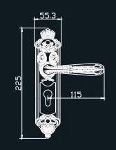 Classic Style Forged Solid Brass Door Handle pictures & photos