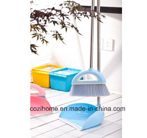 High Quality Sweeper Set Plastic Dustpan Set with Broom (3801) pictures & photos