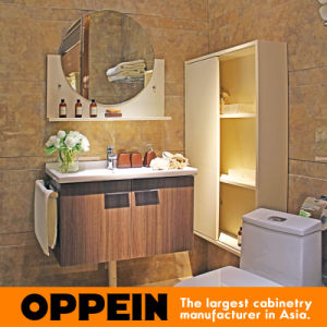 Antique No Top Wooden Bathroom Cabinet with Mirror (OP15-063A) pictures & photos