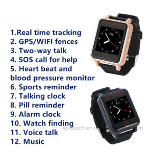 1.54 Touch Screen Waterproof IP67 GPS Watch Tracker with Heart Rate pictures & photos