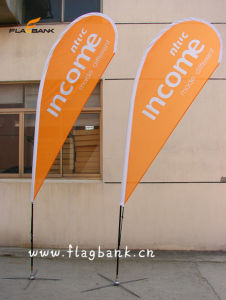 Indoor or Outdoor Teardrop Beach Flag and Flag Pole pictures & photos
