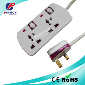 2 Way UK Power Plug Socket with Switch and Indicate Lamp pictures & photos