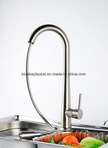 Hot Selling Brass Pull out Brushed Nickle Kitchen Faucet Mixer pictures & photos