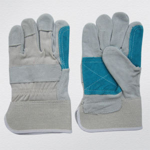 Cow Split Leather Palm Reinforced Gloves (3060) pictures & photos