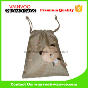 Eco Lovely Polyester Drawstring Pouch Factory Gift Bag in China pictures & photos