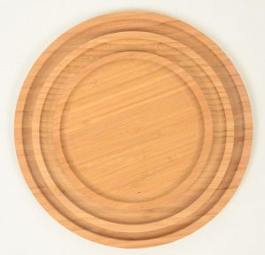 Round Bamboo Food Tray/ Serving Tray pictures & photos