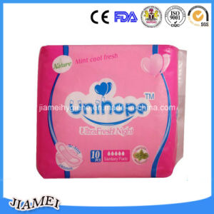 Soft Dry and Breathable Non-Woven Topsheet Sanitary Towels pictures & photos