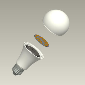 A80 15 Watt LED Bulb Plastic Housing with Heat Sink pictures & photos