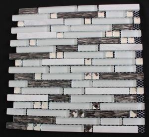 White Diamond Black Glass Marble Mosaic Tile Backsplash Tiles Wall Bar pictures & photos