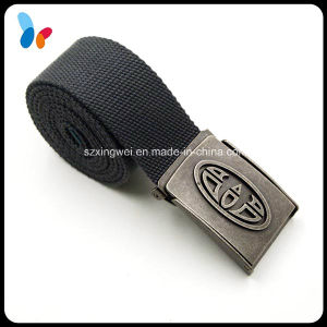 Black Polyester Fabric Strap Men Belts with Alloy Buckle pictures & photos