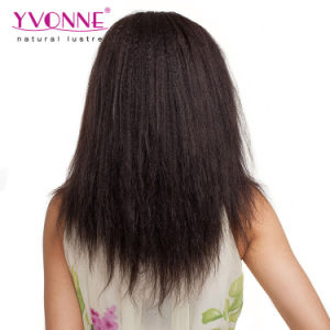 Yaki Straight Brazilian Human Hair Lace Front Wig pictures & photos
