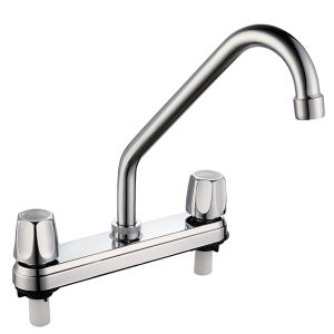 8′′ Plastic Double Handle Basin Tap Mixer (PR-014) pictures & photos