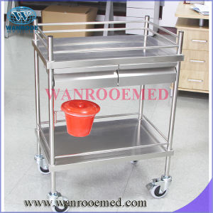 Bss200d2b Stainless Steel Dressing Trolley with Double Drawer Bucket pictures & photos