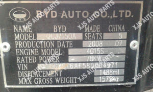 Byd F3 Engine Model Qcj7150A pictures & photos