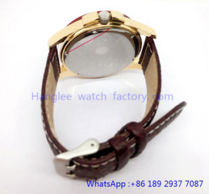 Top-Quality Stainless and Wood Quartz Watches Water Resistant Hlja-15059 pictures & photos
