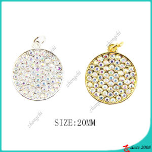 Gold Silver Crystals Circle Charms for Bracelet Making (MPE) pictures & photos