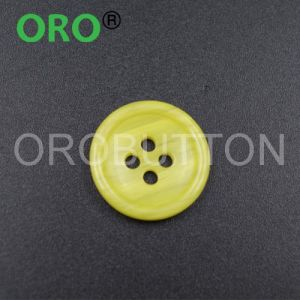 Custom Yellow Shirt Black Buttons with High Quality