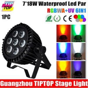 7 X 18W High Power RGBWA UV 6in1 LED Waterproof PAR Light
