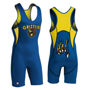 Cheap Sublimated Custom Made Wrestling Singlet for Sale pictures & photos