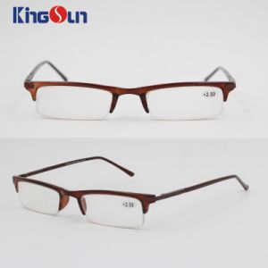 Injection Frame with Metal Temple Reading Glasses pictures & photos