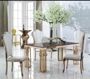 Glod High End Galaxy Green Marble Best Dining Table pictures & photos
