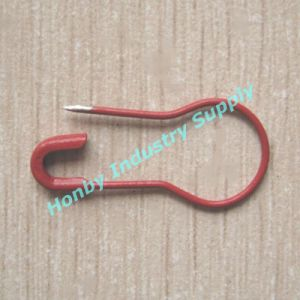Red Coloured Pear Shaped Metal Safety Pin for Hanging Tag pictures & photos