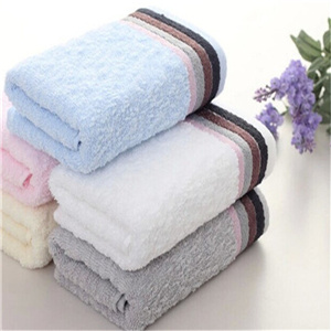 Customized Color Full Size Jacquard 100% Cotton Bath Towel