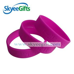 Colored Silicone Bracelet with Logo Printed pictures & photos