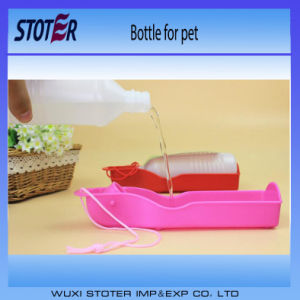 Fan 500ml Plastic Foldable Pet Dog Cat Travel Water Drinking Bottle pictures & photos
