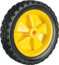 7inch Lawn Mower Rubber Wheel with Diamond Pattern