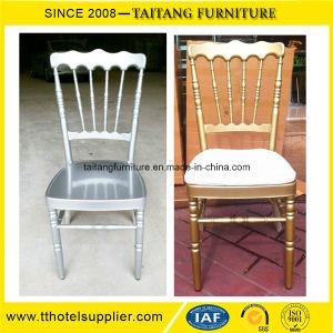 Hotel Dining Room Silver Aluminum Chiavari Wedding Chairs