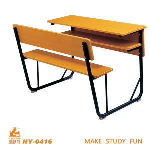 Two People Desk and Chair School Furniture pictures & photos
