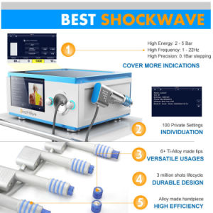 Audlt Use with LCD Displace Lumsail Brand Shockwave Therapy Machine pictures & photos