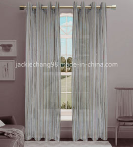 Jacquard Sheer Grommet Panel Window Curtain (HR14WT145) pictures & photos