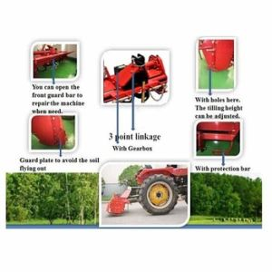 Farm Tractor Used 3 Point Hitch Rotary Tiller pictures & photos